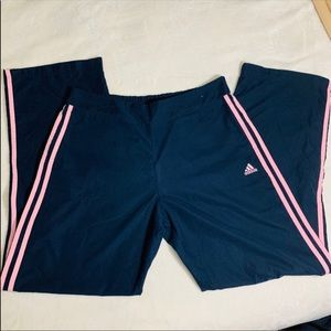 🅰️ Women's Large Navy Adidas Track Pants 🅰️